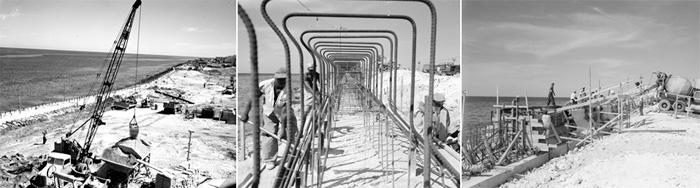Construcción del Malecón de la Habana. Cuba